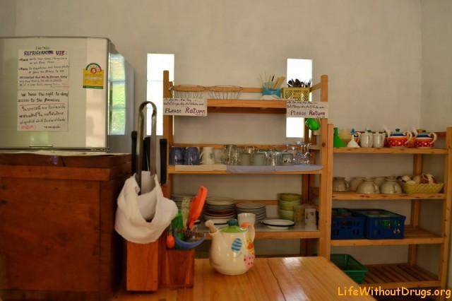 Кухня в гестхаузе в Пае