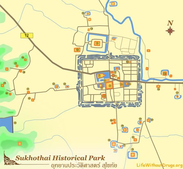 Исторический парк Сукхотай - полезная информация