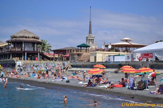 городской пляж Сочи