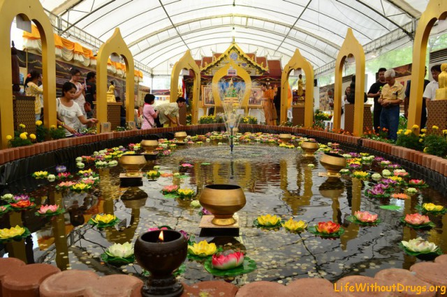 Павильоны на дне рождения Будды