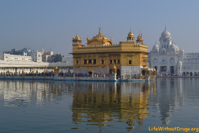 Амритсар. Золотой храм - святыня сикхов.