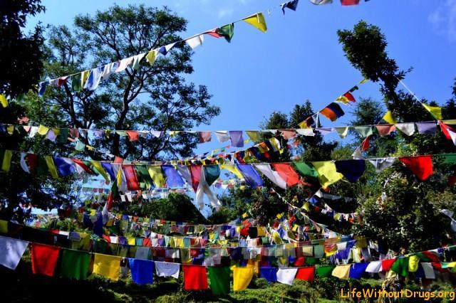 Тибетские молитвенные флажки