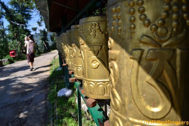 Тибетские молитвенные барабаны