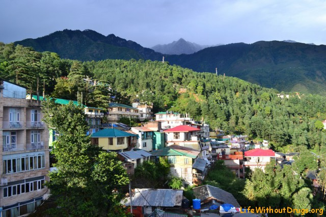 Дхарамсала - вид с нашего балкона