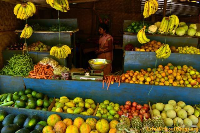 овощи фрукты в Гоа