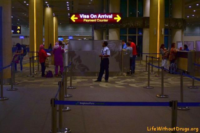 Пункт оплаты визы по прибытию на Бали