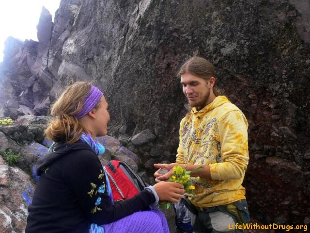 Сделать предложение на вершине вулкана Агунг