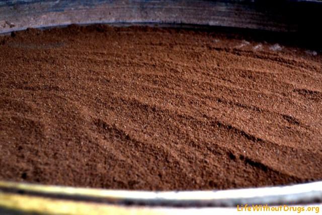 молотый, ароматный кофе