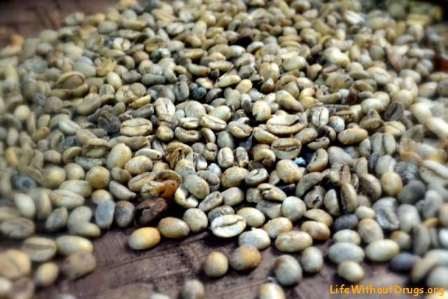 Сырые (зеленые) зерна кофе