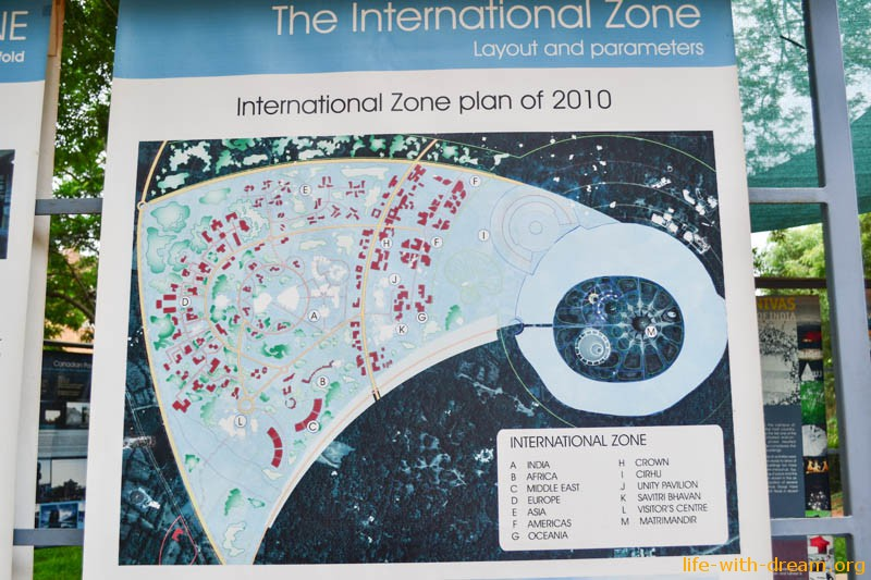 План строительства Ауровиля