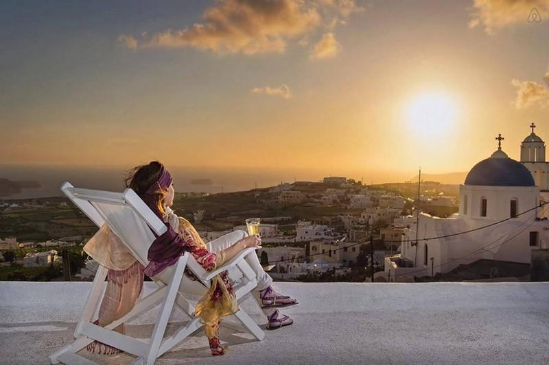 Airbnb аренда домика в Санторини