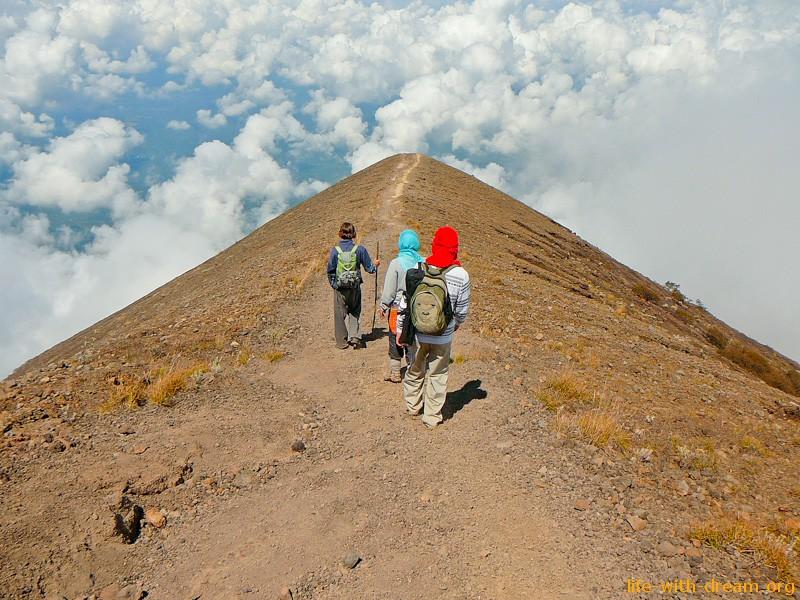 Агунг у вершины