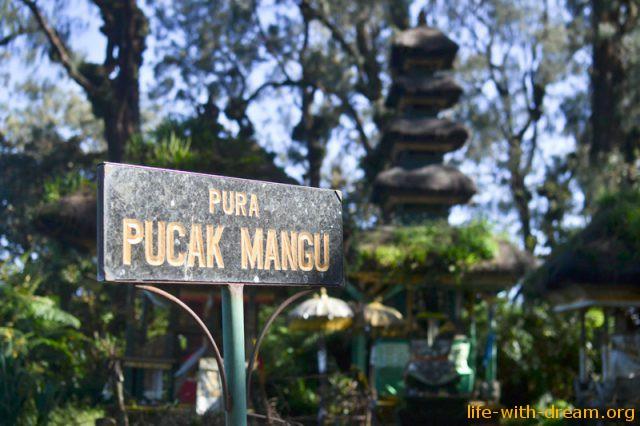 Восхождение на гору Чатур  к древнему храму Pura Puncak Mangu