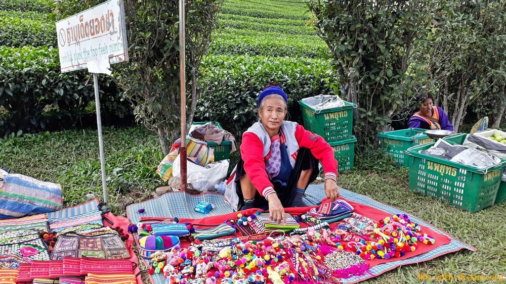 Мае Салонг - чайная деревушка на севере Таиланда. Прогулка.