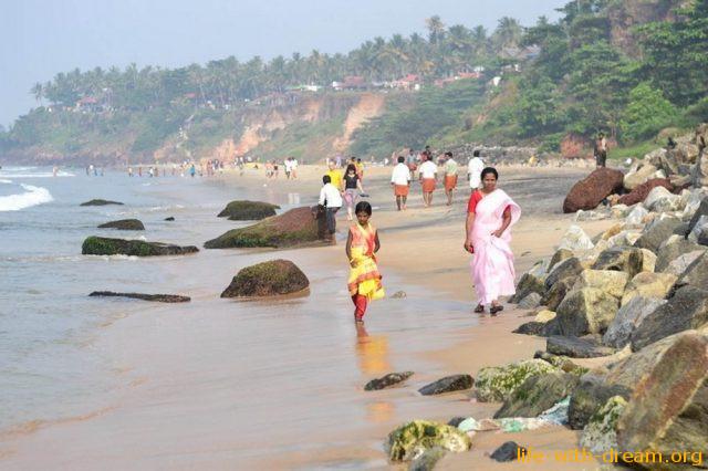 Пляжные особенности Индии.