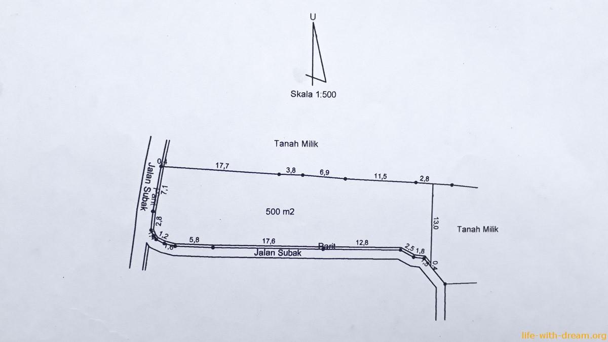 Как построить свой дом на Бали. План нашего участка